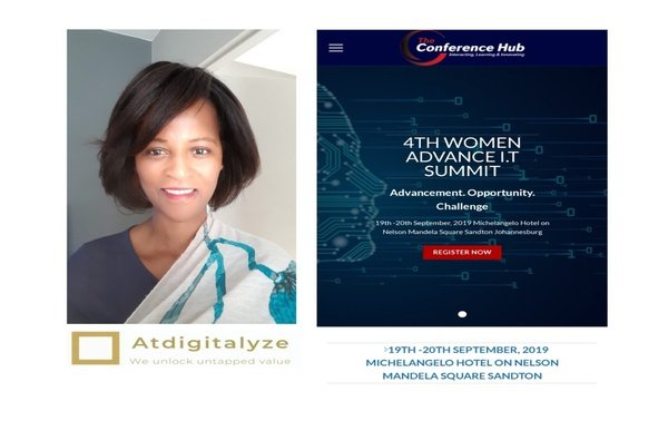 Our ceo speaking at the women advance it summit on the 20th of september 2019 picture