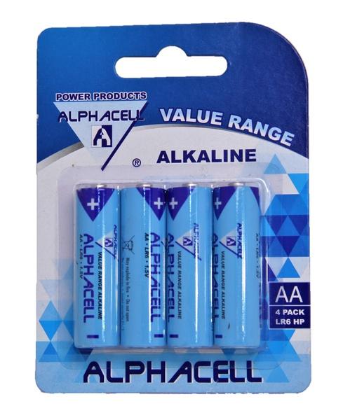 Alphacell aa batteries - 4 pack picture
