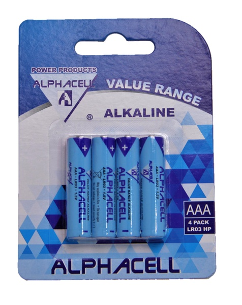 Alphacell aaa batteries - 4 pack picture
