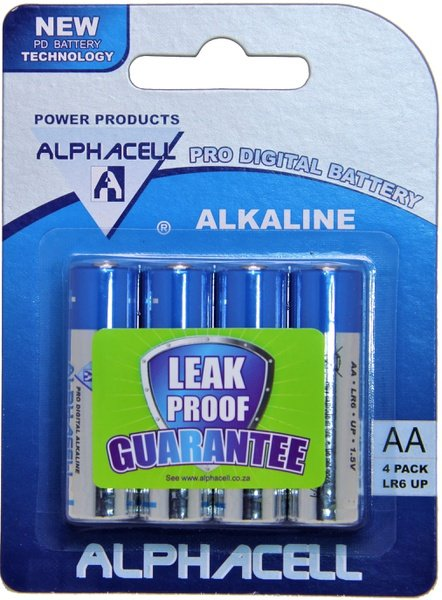 Alphacell pro digital aa batteries - 4 pack picture