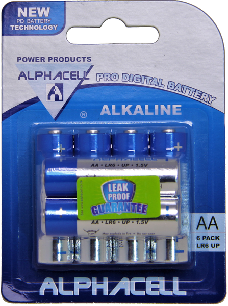 Alphacell pro digital aa batteries - 6 pack picture
