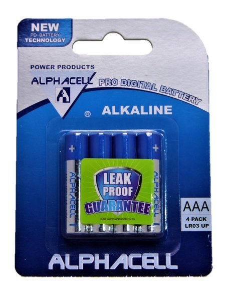 Alphacell pro digital aaa batteries - 4 pack picture