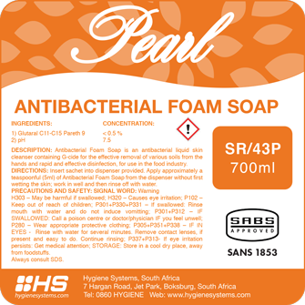 Pearl antibacterial foam soap picture