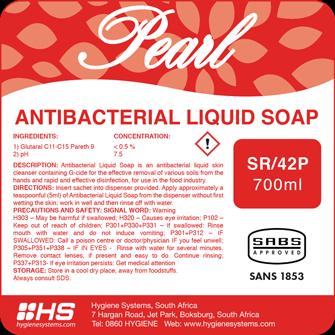 Pearl antibacterial liquid soap picture