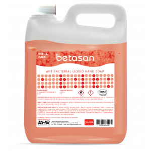 Betasan™ 5lt antibacterial liquid hand soap refill picture