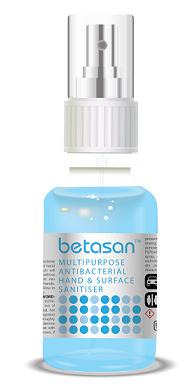 Betasan™ 50ml multipurpose antibacterial hand & surface sanitiser spray picture
