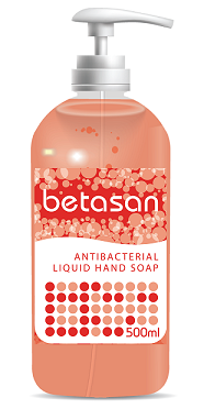 Betasan™ 500ml antibac liquid soap pump bottle picture