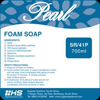 Pearl luxury foam hand soap 700ml picture