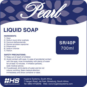 Pearl luxury liquid hand soap picture