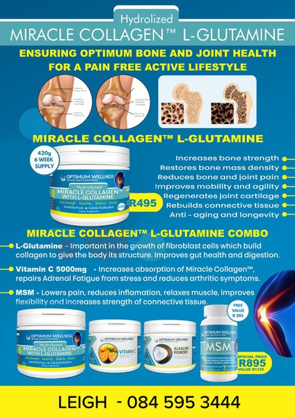 Miracle collagen with l-glutamine 2,000mg 420g combo picture