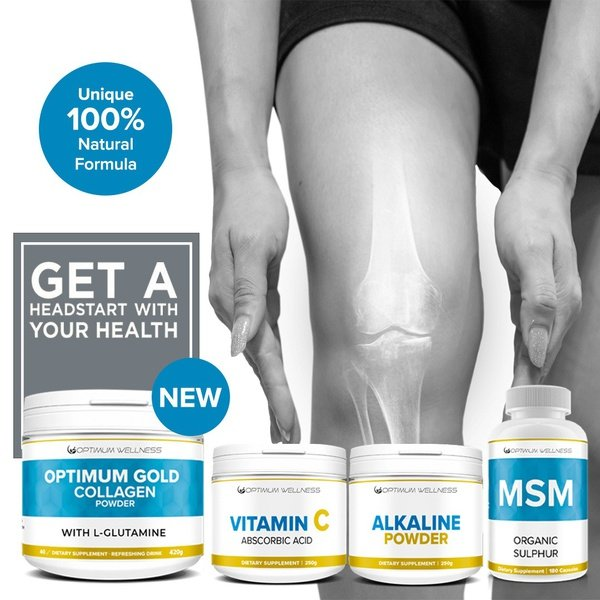 Optimum gold collagen powder with l-glutamine 2000mg 420g combo picture