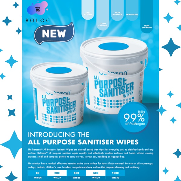 Betasan™ all purpose sanitiser wipes 500 picture
