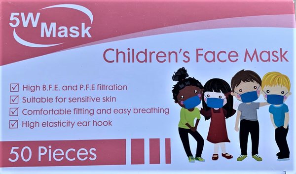 3 ply disposable children's face masks - box of 50 picture
