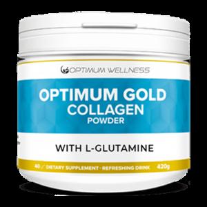 Optimum gold collagen powder with l-glutamine 2000mg 420g picture