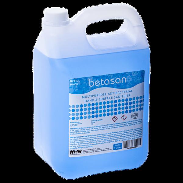 Betasan™ 5l multipurpose antibacterial hand & surface sanitiser picture