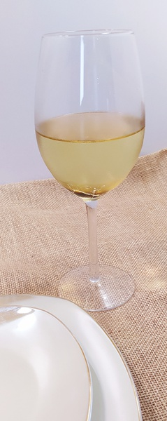 Two toned wine glass picture
