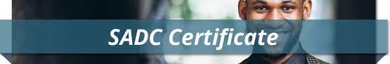 Sadc certificates picture
