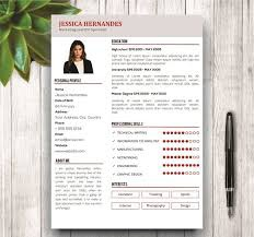 Mordern cv design +cover letter picture