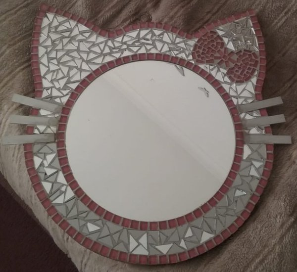 Mosaic art : kitty form. picture
