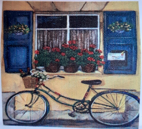 Diamond painting : bicycle by window picture