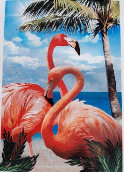 Diamond painting : flamingos picture
