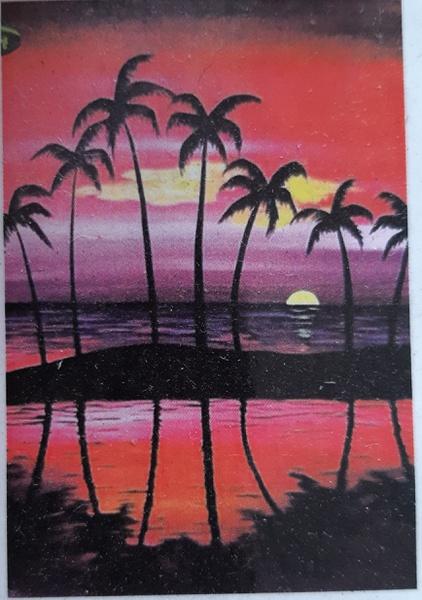 Diamond painting : sunset scene picture