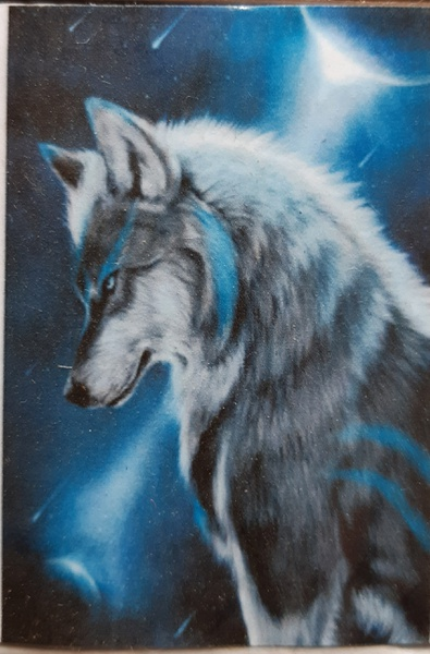 Diamond painting : wolf thinking picture