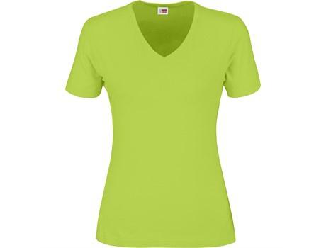 Ladies super club 165 v-neck t-shirt picture