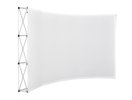 Legend curved banner wall 3.5m x 2.25m picture