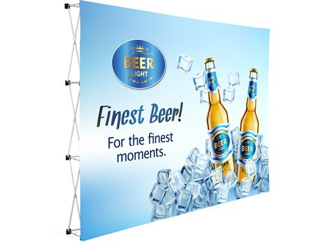Legend straight banner wall 3m x 2.25m picture