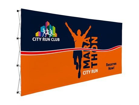 Legend straight banner wall 4.45m x 2.25m picture