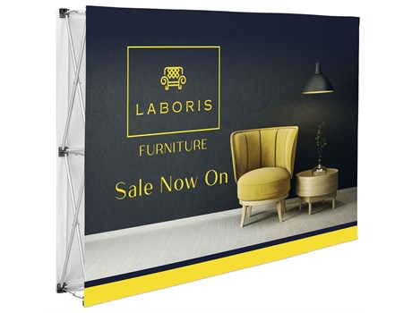 Legend double-sided straight banner wall 1.52m x 2.25m picture