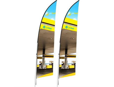 Legend 2m arcfin single-sided flying banner (set of 2) picture