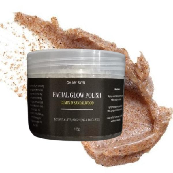 Lightening facial glow polish (cumin & sandalwood) 125g picture