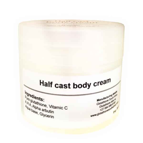 Half cast lightening body cream plus picture