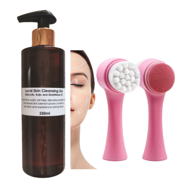 Face cleanse  1 x lucid skin cleansing gel  1 x face wash brush picture