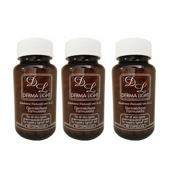 3 x derma light glutathione capsules picture