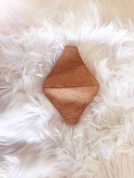 Rose gold glitter mask picture