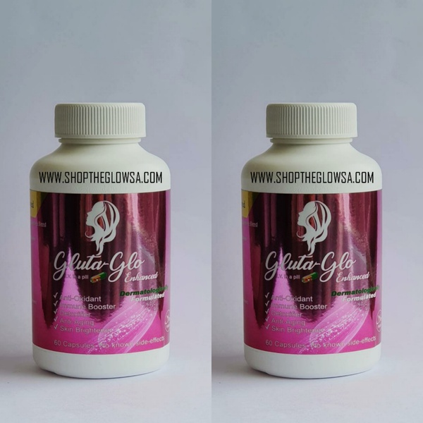 2 x gluta glo enhanced picture