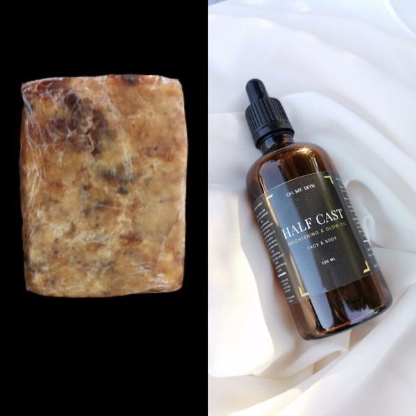 Black soap + half cast  brightening/glow oil picture