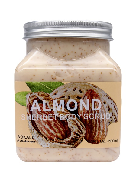 Wokali lightening sherbet body scrub - almond picture