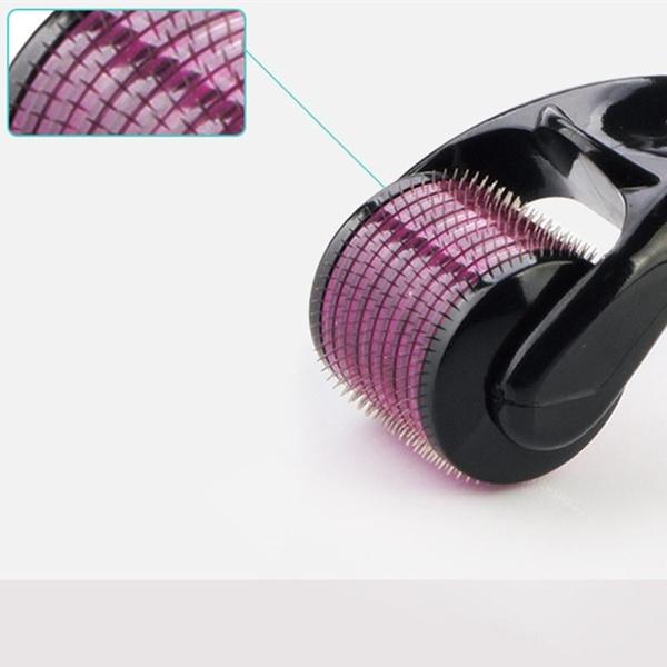 540 titanium microneedle derma roller 0.5mm - black & purple picture