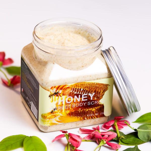 Wokali lightening sherbet body scrub - honey picture