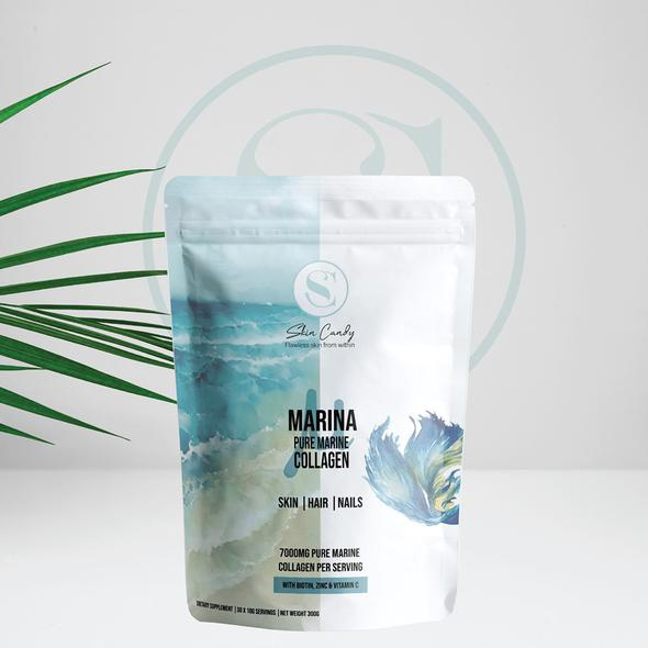 Marina – pure marine collagen with vitamin c, zinc and biotin 700g picture