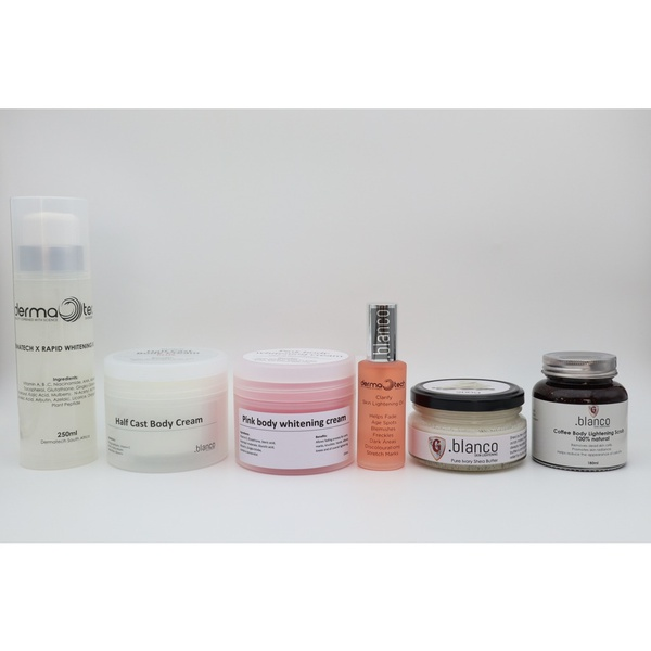 Body lightening cream,clarify oil,pure ivory shea butter and coffee lightening scrub picture
