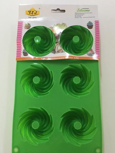 Mini swirl bundt silicone mould picture