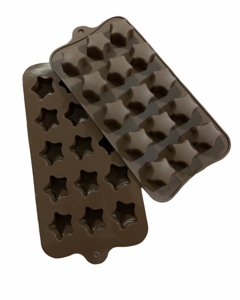Chocolate star silicone mould 15 cavity picture