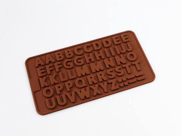 Silicone  double  alphabet mould picture