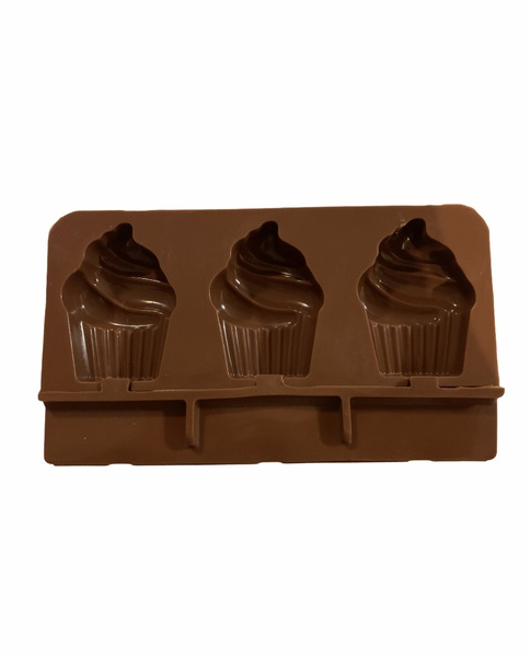 Silicone cupcake ice cream/cakesicle mould 3 cavity picture