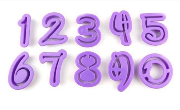 Disney numeral cut outs 10pc picture